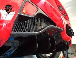 458 spider rear 458 italia spider carbon fiber rear diffuser fins