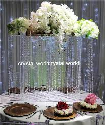 Crystal Chandelier Centerpiece Hanging Crystals For Wedding Centerpieces Wedding Reception