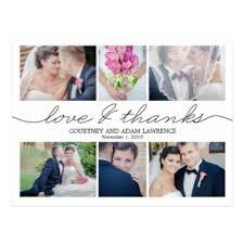 thank you cards wedding wedding thank you postcards zazzle