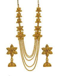 gold rani haar sets gold plated rani haar at rs 450 set necklace set strimaya