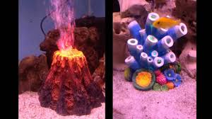 new led volcano and coral ornaments