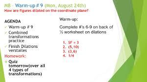 math 8 u2013 warm up 3 friday august 10 th agenda check homework