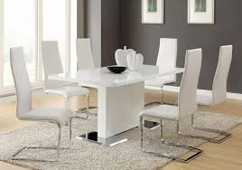 Comfortable Dining Room Sets Dining Room Modern White Dining Tables With Sleek Dining Room