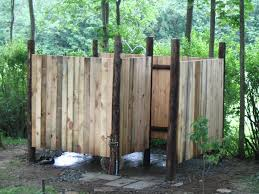 design ideas outdoor shower stall bathroom image wood wall outdoor shower stall