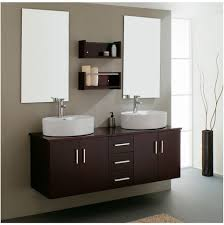 bathroom art deco black painted wooden bathroom vanity with