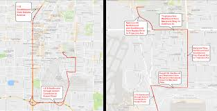 Downtown Las Vegas Map by Las Vegas Presidential Debate Road Closures Set Around Unlv