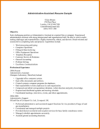Resume Sample Administrative Assistant by Resume Objectives For Administrative Assistant Free Resume