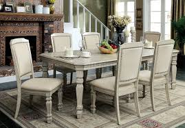 holcroft cm3600t dining table in antique white w options