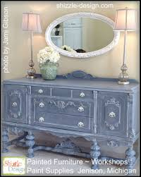 Furniture Paint Ideas by Tarnished Platter American Paint Company Shizzle Design Gray Blue