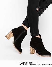 womens boots asos asos each and everyone wide fit leather ankle boots black shoes