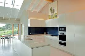 White Island Kitchen Impressive Modern White Kitchen Island With Cut In Shelves2 Png