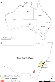 sydney australia map a map of australia dot locates sydney the states include