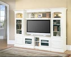 Entertainment Storage Cabinets White Wooden Entertainment Storage Units And Big Flat Tv Above