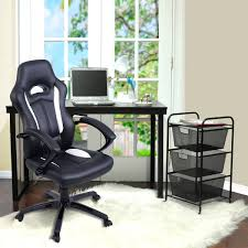 Race Car Office Chair Black And White High Back Racing Car Style Gaming Chair Gaming