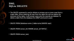 Delete All Rows From Table Sqlite Session 1 By Inforepos