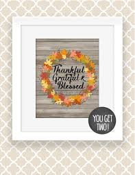 thanksgiving decoration printable thankful grateful blessed