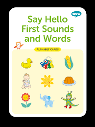 words cards alphabet cards say hello sounds words 27 cards