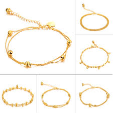 aliexpress buy new arrival 10pcs upscale jewelry opk 10pcs lot luxury gold color woman anklets fashion trendy heart