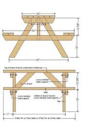 Folding Picnic Table Plans Pdf by Diy Building Plans For A Picnic Table Backyard Ideas Pinterest