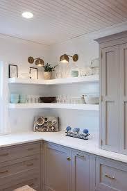 gray kitchen cabinet ideas projects idea kitchen open shelving corner best 10 shelves ideas