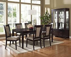 Silver Dining Room Set by Steve Silver Wilson Contemporary Dark Brown Rectangular Dining