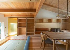 Plywood Design Small House By Hitotomori Has Custom Made Plywood Interior