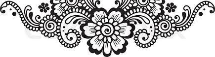 white flower corner lace ornament stock vector colourbox