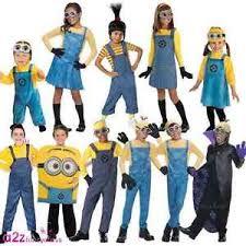 Girls Minion Halloween Costume Kids Boys Girls Official Despicable Minion Fancy Dress