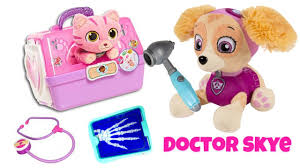 paw patrol skye doctor ariel u0027s sick cat kitty learn