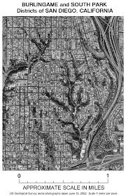 San Diego Old Town Map by North Park A Community In San Diego California