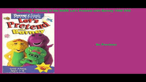 Opening Closing To Barney U0026 by Let U0027s Pretend With Barney Rare 1998 Vhs Opening U0026 Closing Youtube