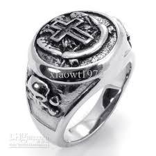 cross rings men images Stainless steel casting classical cross ring men punk band rings jpg