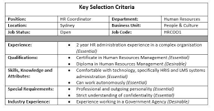 cover letter addressing key selection criteria example best