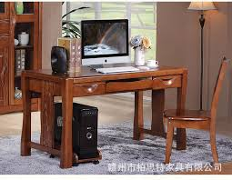 Solid Wood Computer Desk Solid Wood Computer Desk Study Desk Writing Desk Office Desktop