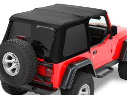jeep frameless soft top bestop 56920 17 trektop nx twill soft top for 97 06 jeep