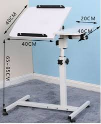 adjustable movable laptop table 40 20 40cm 360 degrees rotation multipurpose movable laptop table
