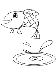 fish bowl coloring sheet kids coloring