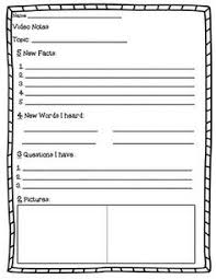 Take Sheet Template This Worksheet Is A Note Taking Worksheet For Students That Are