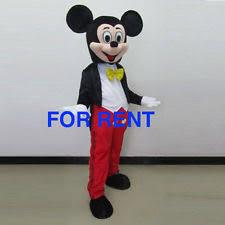 Halloween Costume Rent Mickey Mouse Mascot Costume Ebay