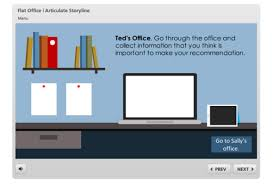 interaction elearning template flat office for articulate