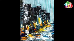 Paint Pallet by Learn To Paint Pallet Knife Abstract Rainy Day City Street Acrylic
