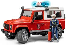 matchbox land rover bruder land rover defender station wagon fire department vehicle