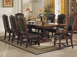 Leather Dining Room Arm Chairs Home Decorating Interior Design - Dining room sets clearance