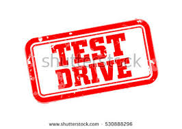 test drive test drive rubber st vector illustration stock vector 530888296