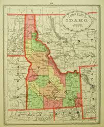 Idaho County Map Idaho State Highway Counties Road Map Usa Map Of Idaho Cities