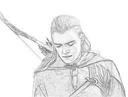 draw elf lord rings archives pencil