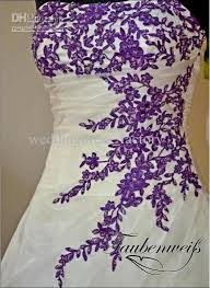 wedding dresses with purple detail white wedding dresses with purple accents pictures ideas guide