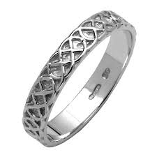 celtic wedding ring celtic closed knot narrow silver wedding band celtic wedding