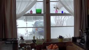 snowstorm from inside the house youtube