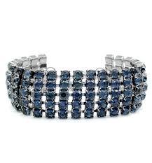 blue crystal bracelet swarovski images Stylish jewellery wide 5 row jet navy blue swarovski crystal jpg